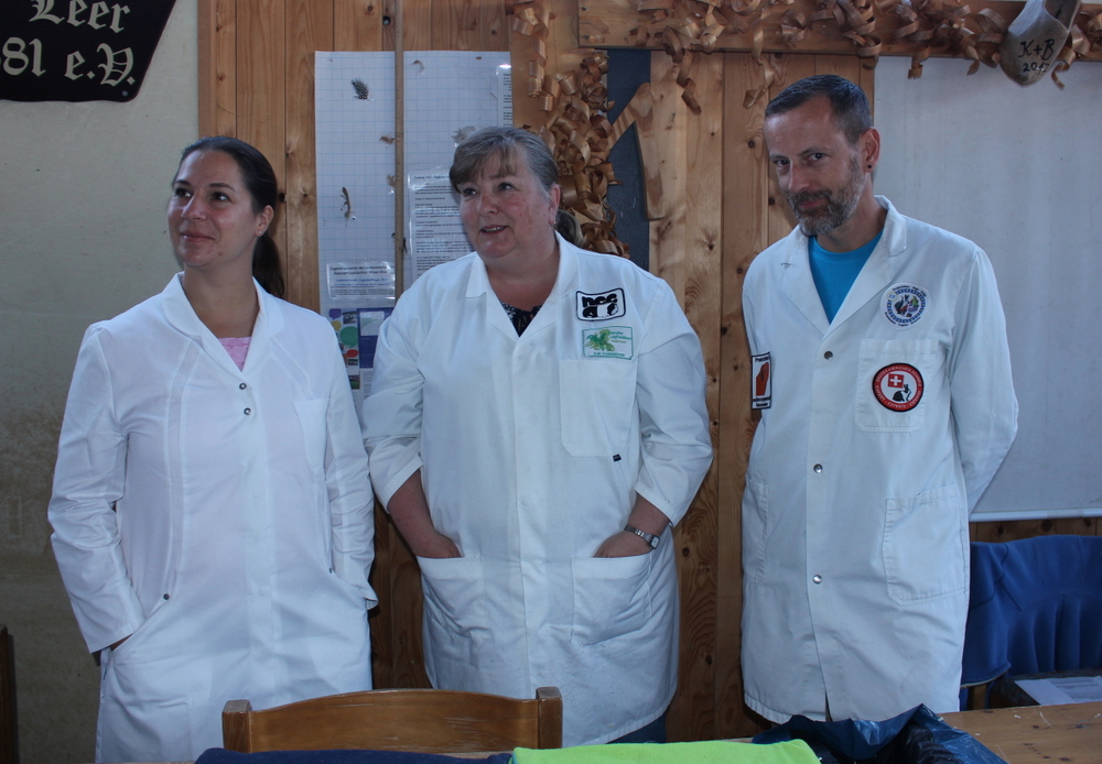 Unsere Richter der diesjährigen Herbstschau: Melanie Polinelli, Carla Swaap und Markus Durrer