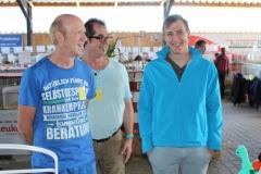 Weit gereiste Gäste fanden den Weg zu uns: Chris Zach, Horst Preisker und Julian Kniep (Rex Meerie)